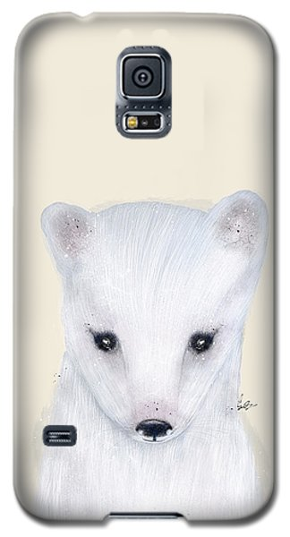 Galaxy S5 Case featuring the painting Little Arctic Fox by Bri B