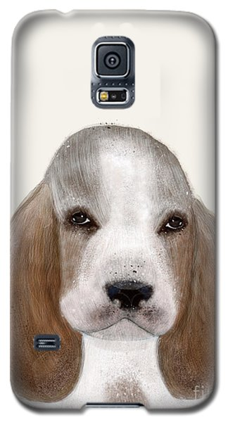 Galaxy S5 Case featuring the painting Little Basset Hound by Bri B