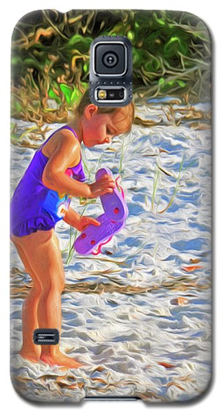 Little Beach Girl With Flip Flops Galaxy S5 Case