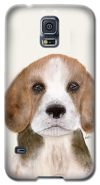 Galaxy S5 Case featuring the painting Little Beagle by Bri B