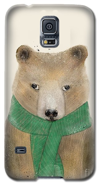 Galaxy S5 Case featuring the painting Little Bear Brown by Bri B