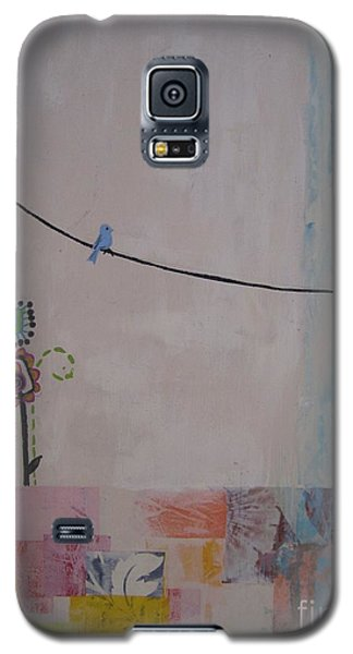 Galaxy S5 Case featuring the painting Little Birdie by Ashley Price