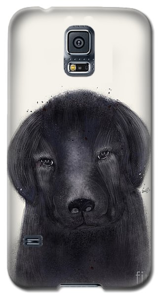 Galaxy S5 Case featuring the painting Little Black Labrador by Bri B