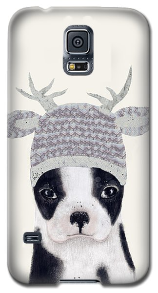 Galaxy S5 Case featuring the painting Little Boston Deer by Bri B