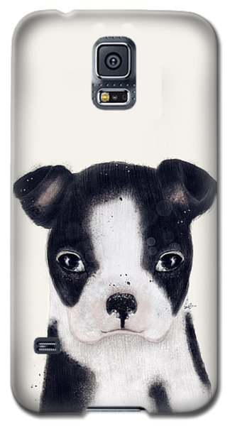 Galaxy S5 Case featuring the painting Little Boston Terrier by Bri B