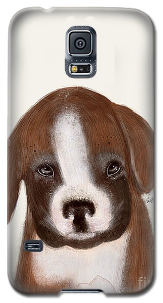 Galaxy S5 Case featuring the painting Little Boxer by Bri B