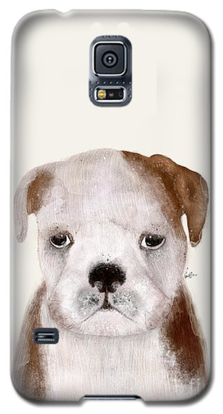 Galaxy S5 Case featuring the painting Little Bulldog by Bri B