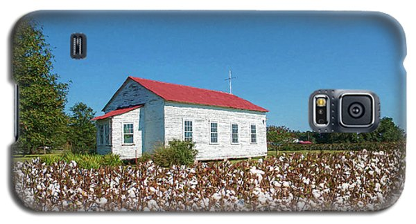 Galaxy S5 Case featuring the photograph Little Church In The Cotton Field by Bonnie Barry