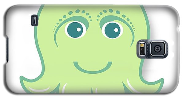 Galaxy S5 Case - Little Cute Green Octopus by Ainnion