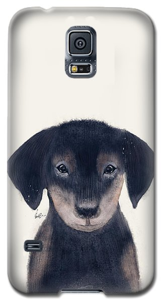 Galaxy S5 Case featuring the painting Little Dachshund by Bri B