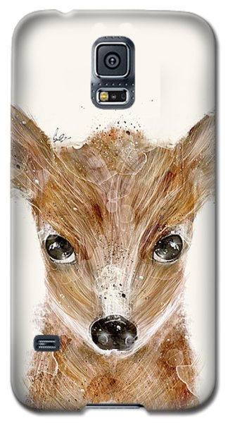 Galaxy S5 Case featuring the painting Little Deer Fawn by Bri B