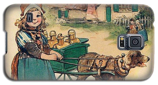 Little Dutch Girl With Milk Wagon Galaxy S5 Case by Reynold Jay