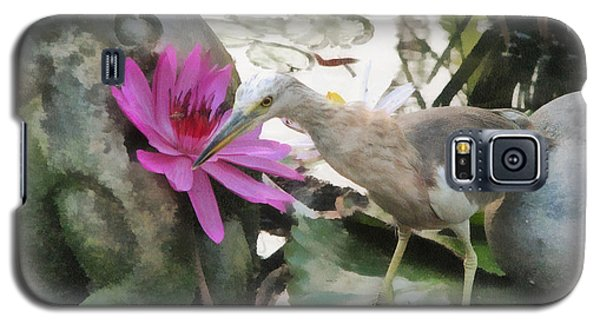 Galaxy S5 Case featuring the painting Little Egret by Sergey Lukashin