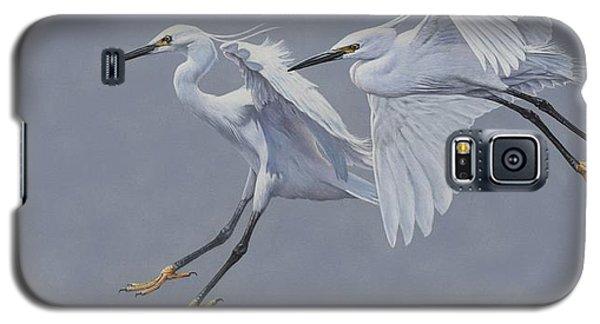 Little Egrets In Flight Galaxy S5 Case