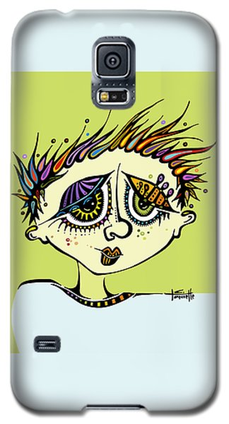 Galaxy S5 Case featuring the drawing Little Einstein by Tanielle Childers