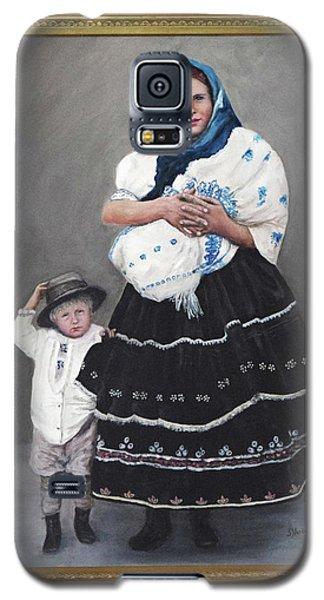 Galaxy S5 Case featuring the painting Little Family by Sandra Nardone