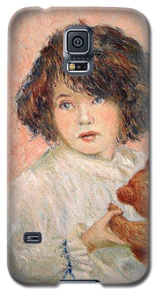 Little Girl With Bear Galaxy S5 Case