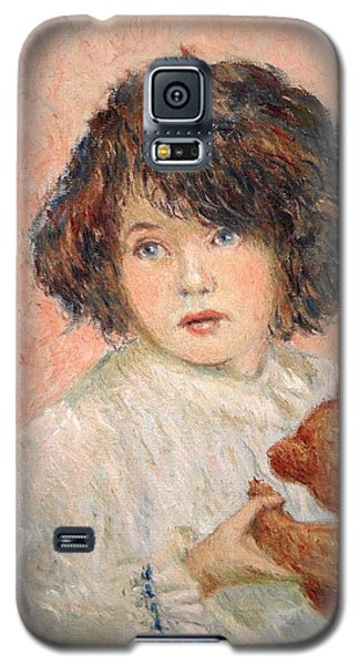 Little Girl With Bear Galaxy S5 Case