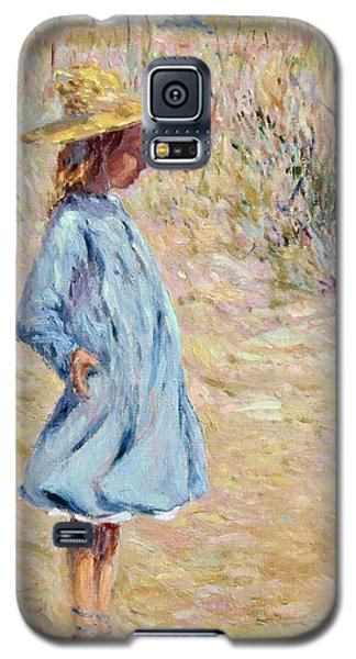 Little Girl With Blue Dress Galaxy S5 Case