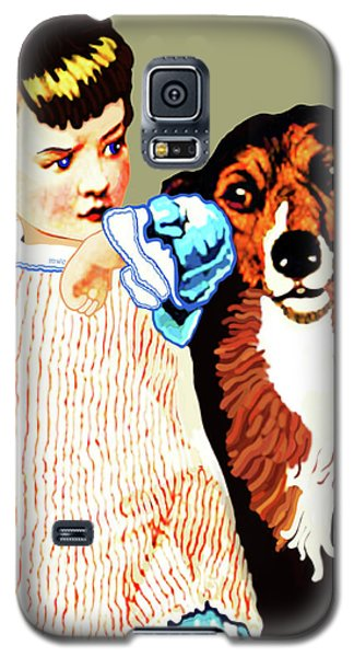 Little Girl With Hungry Mutt Galaxy S5 Case
