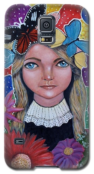 Galaxy S5 Case featuring the painting Little Girls Dream by Saranya Haridasan
