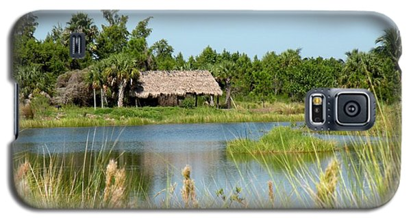Galaxy S5 Case featuring the photograph Little Grass Shack by Rosalie Scanlon