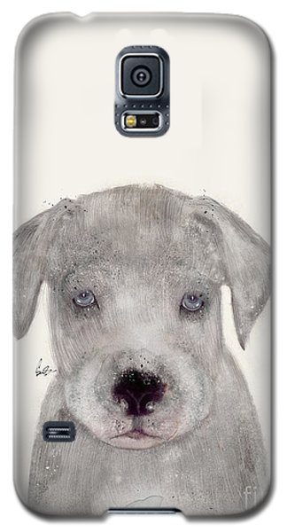 Galaxy S5 Case featuring the painting Little Great Dane by Bri B