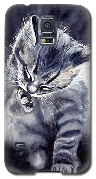 Fairy Galaxy S5 Case - Little Grey Cat by Suzann's Art