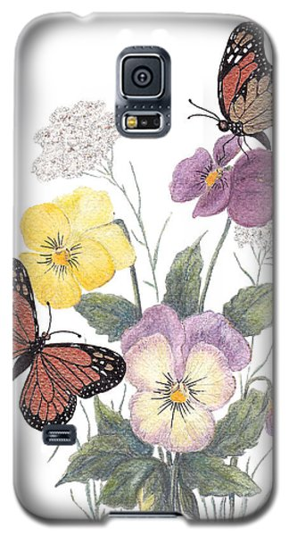 Galaxy S5 Case featuring the painting Little Heartsease by Stanza Widen