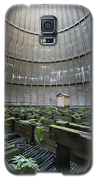 Galaxy S5 Case featuring the photograph Little House Inside Industrial Cooling Tower by Dirk Ercken