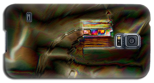 Little House On The Abstract Prairie Galaxy S5 Case by Paula Ayers