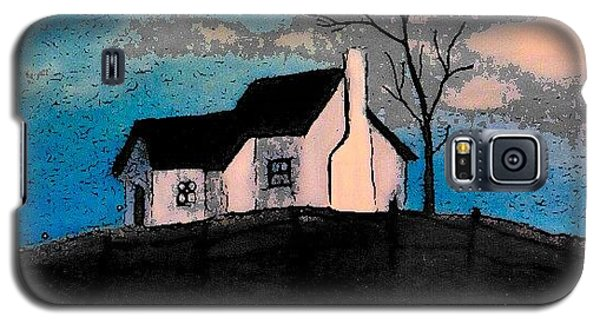 Galaxy S5 Case featuring the drawing Little House On The Hill by John Stuart Webbstock
