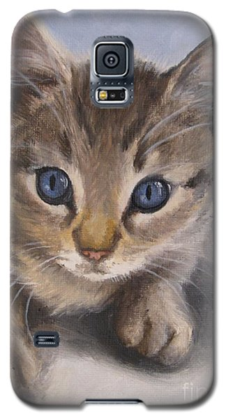 Galaxy S5 Case featuring the painting Little Kitty by Jindra Noewi