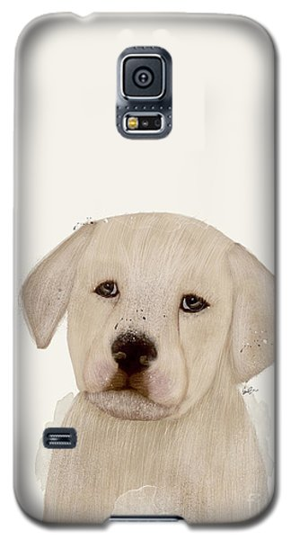 Galaxy S5 Case featuring the painting Little Labrador by Bri B