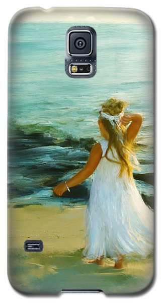Little Lady At The Beach Galaxy S5 Case