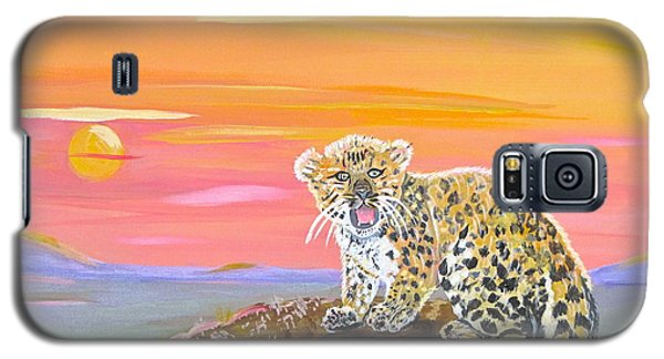 Galaxy S5 Case featuring the painting Little Leopard by Phyllis Kaltenbach