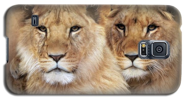 Galaxy S5 Case featuring the digital art Little Lions by Trudi Simmonds