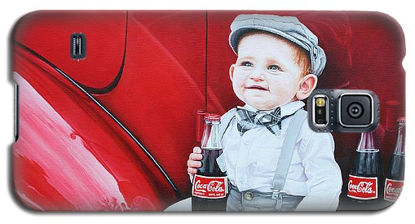 Galaxy S5 Case featuring the painting Little Mason by Mike Ivey