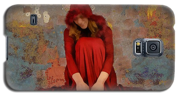 Galaxy S5 Case featuring the mixed media Little Mel Riding Hood by Trish Tritz