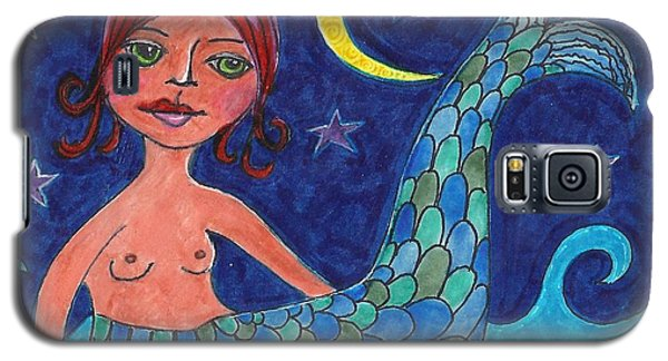 Galaxy S5 Case featuring the mixed media Little Mermaid by Lisa Noneman