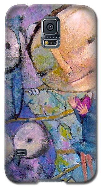 Galaxy S5 Case featuring the painting Little Miss Wise Heart by Eleatta Diver