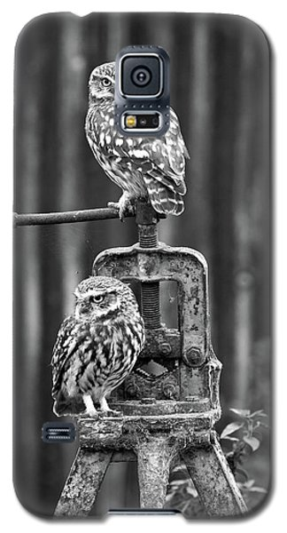 Little Owls Black And White Galaxy S5 Case