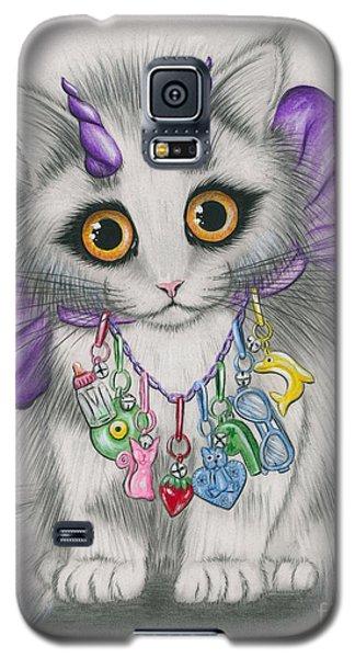 Little Purple Horns - 1980s Cute Devil Kitten Galaxy S5 Case