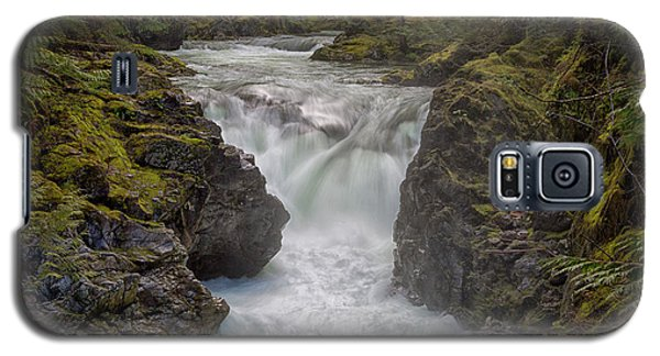 Galaxy S5 Case featuring the photograph Little Qualicum Lower Falls by Randy Hall