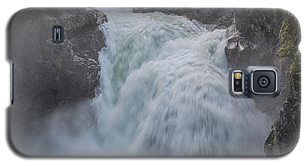 Galaxy S5 Case featuring the photograph Little Qualicum Upper Falls by Randy Hall