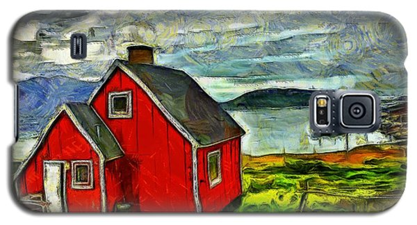 Little Red House In Greenland Galaxy S5 Case