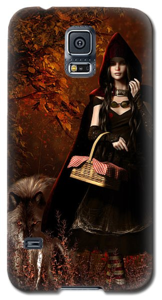 Little Red Riding Hood Gothic Galaxy S5 Case by Shanina Conway