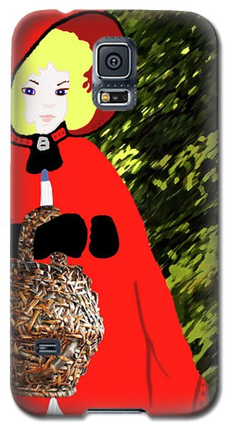 Little Red Riding Hood In The Forest Galaxy S5 Case by Marian Cates