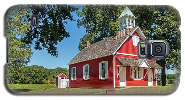 Galaxy S5 Case featuring the photograph Little Red School House by Charles Kraus