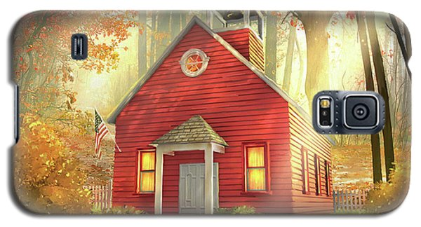 Little Red Schoolhouse Galaxy S5 Case